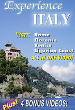 Experience Italy - Travel DVD  BRAND NEW / FACTORY SEALED / FREE SHIPPING