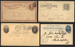 U.S. 1880-1900's COLLECTION OF 15 POSTAL CARD's ALMOST ALL DIFFERENT
