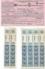 Post WWII Documents National Insurance Wireless Licence Clothing Coupons *[7903]