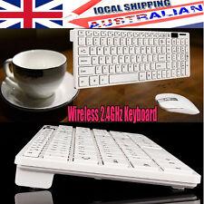 2.4GHz Cordless Wireless Keyboard & Optical Mouse USB Receiver Set PC Desktop AU