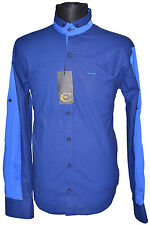 New Luxury Just Cavalli Mens shirt US Size L Blue Cavalli Dress Shirt Sz.L