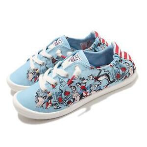 Skechers Beach Bingo-Good Trick Bobs Dr. Seuss Blue Multi Women Shoe 113593-BLMT