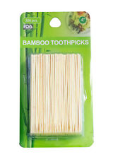 300 Pcs Bamboo Wooden Toothpicks 4""