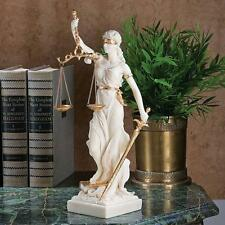 Greek Goddess Justice is Blind Statue Bonded Marble Themis Sculpture