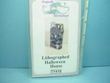 Miniature Halloween Lithographed House Kit #Ty410 -