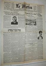 FAC-SIMILE A LA UNE JOURNAL LE MATIN 13/08 1907 COURSE PEKIN-PARIS DE DION