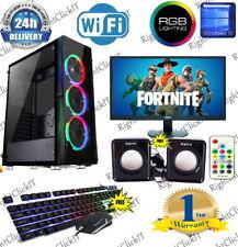 Fast Gaming PC Computer Bundle Intel Quad Core i7 16GB 256SSD Win10 4GB GTX1650