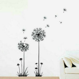 FADS Dandelion PVC Floral Wall Sticker, Peel Stick Remove & Reusable Wall Decor