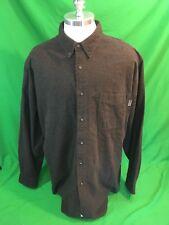 Woolrich Button Down Shirt Flannel Bison Heather Men's 2XL Cotton EUC