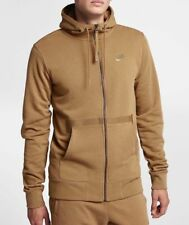 Nike NSW AF1 Men's Full Zip Hoodie 925438 245 Golden Beige New XL