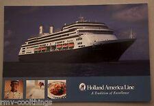 POST CARD HOLLAND AMERICA ROTTERDAM CRUISE SHIP MAIL POSTAL 2005 HAL 30702221 NM