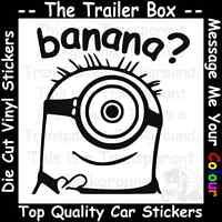 DESPICABLE ME BANANA MINION Funny Car/Window JDM VW VAG EURO Vinyl Decal Sticker