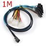Mini SAS 12GB SFF-8643 to 4 SAS 29pin SFF-8482 with IDE Power data Server Cable