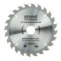185mm x 24T TCT Circular Wood Saw Blade For Bosch, Makita, Dewalt Etc Fits 190mm