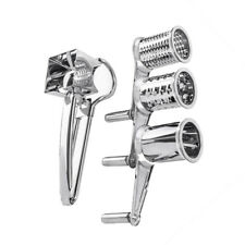 Rotary Cheese Grater Stainless Steel Shredder Cutter Grinder with 3 Drum Blade