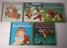 LOT - 5 Vintage 50s & 60s Children's Little Golden Books
