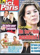 ICI PARIS N° 3706--CAROLINE DE MONACO/NIKOS & TINA/MYLENE FARMER MORT MAMAN