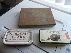 Vintage Players Cigarette, Ogdens St. Bruno Flake tobacco & Panter Mignon tins
