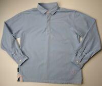 Joules Men's Light Blue Thick Casual Cotton Polo Shirt Size Medium M