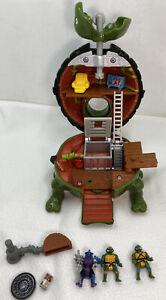 TMNT Mini Mutants Leo Lair Sewer Micro Playset Near Complete Tiny Toys