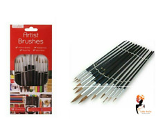 12PC ARTIST PAINT BRUSHES SET OIL ACRYLIC WATERCOLOUR Professional Brush Set Lot