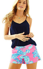 NWT Lilly Pulitzer Pink Pout Barefoot Princess Adie Shorts, Sz 10, $68