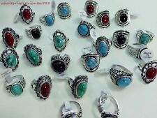 US SELLER wholesale rings 20pcs jewelry turquoise gemstone fashion costume rings