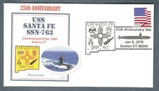 NAVAL COVER USS SANTA FE SSN-763 25TH ANNIVERSARY OF COMMISSIONING
