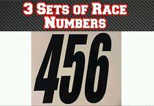 "3 Sets 4"" 100mm  Custom Race Number Vinyl Stickers Decals MX Motocross Bike"