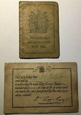 More details for 1915 national registration card & ww1 war service badge certificate - wallsend