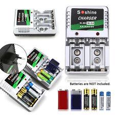 EU Plug Battery Charger for AA/AAA/9V/Ni-MH/Ni-Cd Rechargeable Battery Batteries