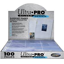 Ultra PRO Silver Series Affichage de Pages à 9 Poches - 100 Pages