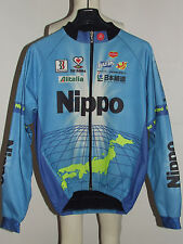 MAGLIA BICI GIACCA JACKET WINDSTOPPER CICLISMO SHIRT TEAM NIPPO BIEMME tg. XL