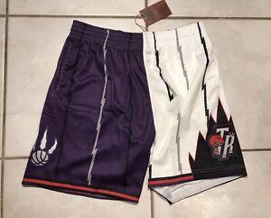 NWT MITCHELL & NESS Toronto Raptors Half And Half SWINGMAN NBA Shorts Men's XL