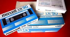CASSETTE TAPE BLANK SEALED - 1x (one) MAXELL LN 90 [1982-1984] made in Japan
