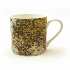 Gift Republic Man Of The World Fine Bone China Mug Cup Vintage Retro Map Gift