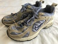 Woman's Nike athletic shoes gray and blue us size 6
