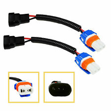 Pair 9006 9012 HB4 Fog Lights Headlight Extension Wiring Harness Sockets Adapter