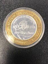 Limited Edition Casino Token Bellagio 999 Fine Silver 2000