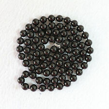 "Beads Gemstone Necklace 34 "" New 8 mm natural black agate"