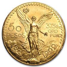 1922 Mexico Gold 50 Pesos BU - SKU #65709