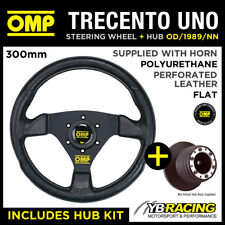 OMP TRECENTO UNO 300mm STEERING WHEEL & BOSS for SEAT IBIZA MK2 (18mm) 93-99