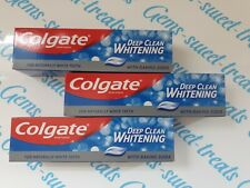 3x Colgate Toothpaste Deep Clean Whitening with Baking Soda Whitening Natural