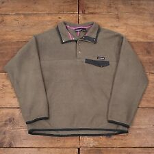 "Mens Vintage Patagonia Snap T Fleece Jacket Green L 46"" R4913"