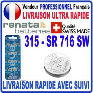 Pile 315 SR716SW 1.55V RENATA Pile bouton QUALITÉ PREMIUM MADE IN SWISS