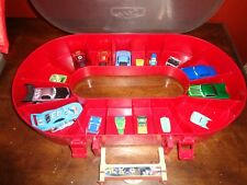 Disney Pixar Cars movie Toy Car Collection with Race Track Case & 8 Cars