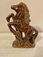 Vintage Mid Century Modern Ceramic Porcelain Glazed Horse Figurine