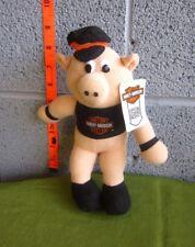 HARLEY-DAVIDSON motorcycle doll Road Hawg biker pig 1992 plush toy NWT oinker