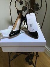 Maison Martin Margiela invisible wedge black patent court shoe UK 3