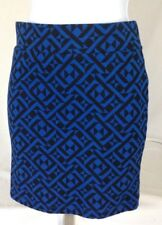 Forever 21~S Small Geometric diamond Stretch Knit Mini Skirt Blue Black